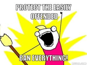 protect the easily offended